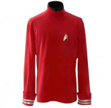 Star Trek Red Starfleet Uniform Shirt Cosplay Costume