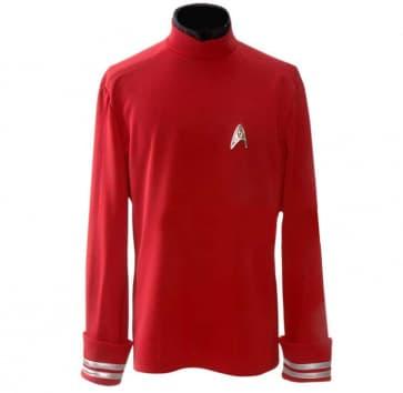 Star Trek Red Starfleet Uniform Shirt Cosplay Costume