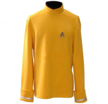 Star Trek Yellow Starfleet Uniform Shirt Cosplay Costume