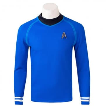 Star Trek Bones Leonard McCoy Cosplay Starfleet Uniform Blue Shirt