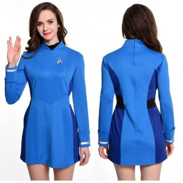 Star Trek Blue Starfleet Uniform Cosplay Costume For Women