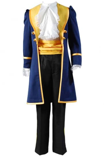 Disney Beauty And The Beast Prince Cosplay Costume For Men Halloween Costume