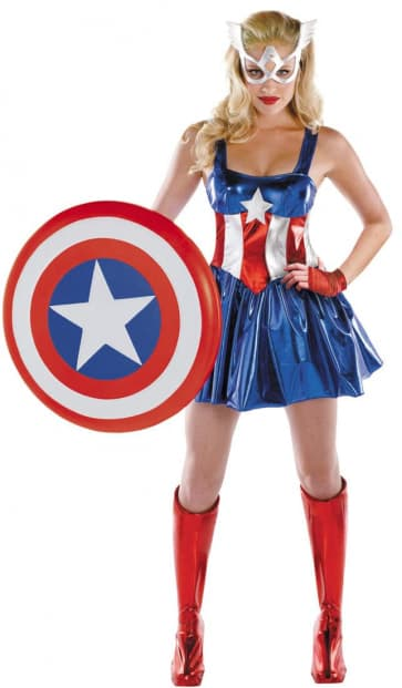 The Avengers Captain America Cosplay Costume Dress For Adults Halloween Costume