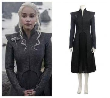 New Style Daenerys Targaryen Grey Cosplay Costume