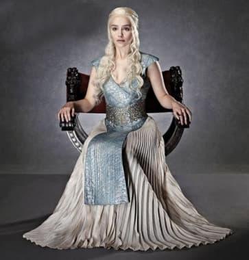 Daenerys Cosplay Costume Cream Queen Dress Games of Thrones Halloween Costume