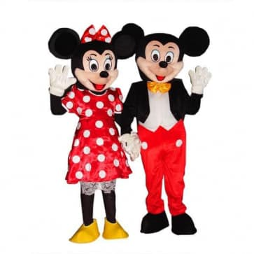 Giant Mickey and Minnie Mouse Mascot Costume Set