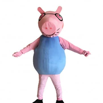 Giant Daddy Pig Peppa Pig Mascot Costume