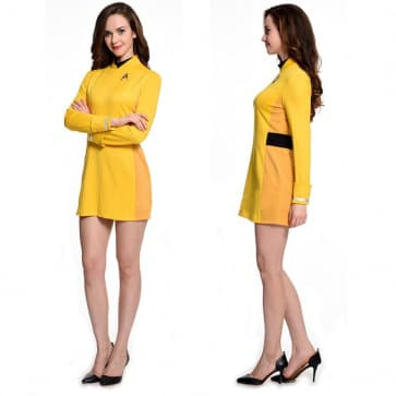 Star Trek Yellow Starfleet Uniform Cosplay Costume For Women