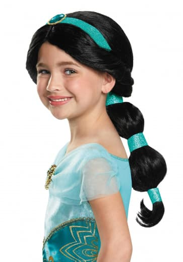 Jasmine Aladdin Wig For Girls