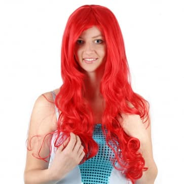 Ariel Mermaid Red Hair Wig For Adults
