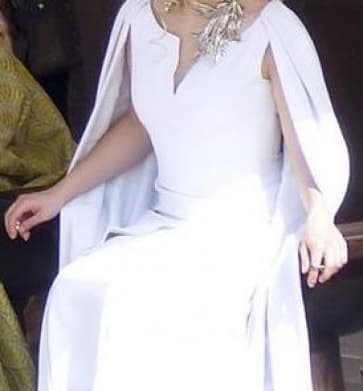 Daenerys Targaryen Khalessi White Dress Costume Game of Thrones