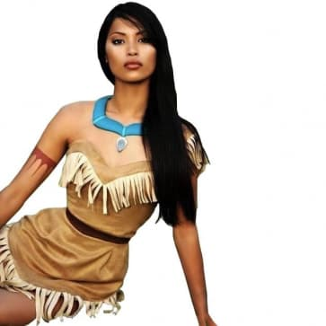 Disney Pocahontas Princess Cosplay Outfit For Children and Adults Halloween Costume