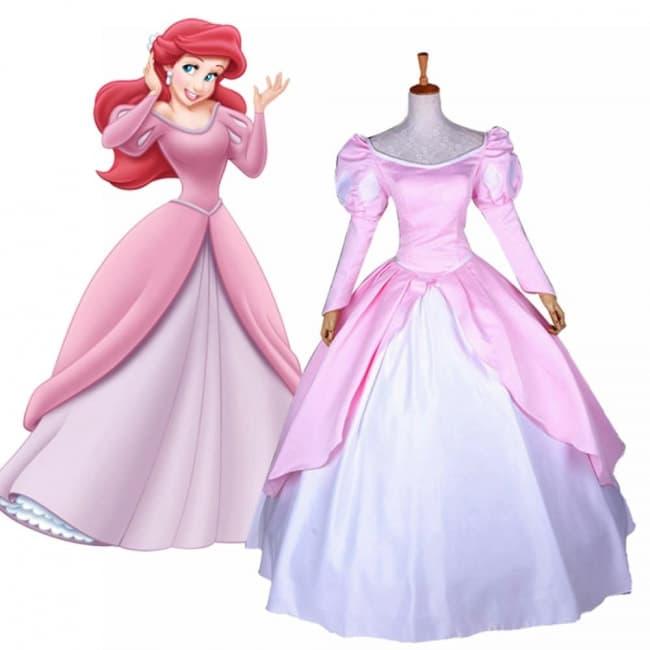 Ariel Pink Dress Costume Cosplay Costume Mascot World