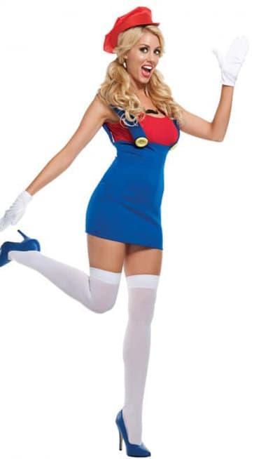 Super Mario Luigi Mario Beauty Cosplay Costume Dress For Adults Halloween Costume