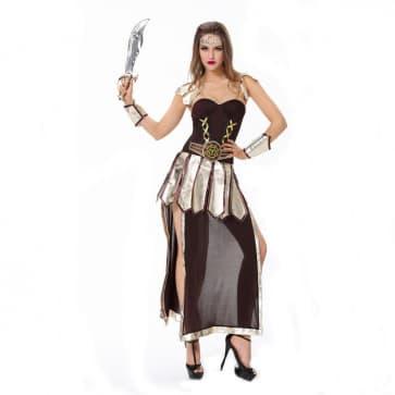 Halloween Masquerade Ball Roman Spartan Greek Warrior Costume