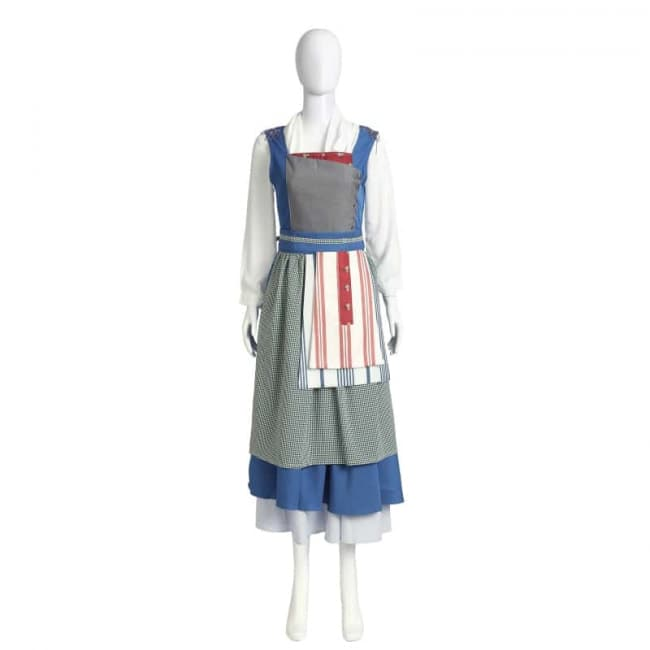 Halloween Schort.Disney Belle Blue Dress Cosplay Outfit For Children And Adults Halloween Costume Costume Mascot World