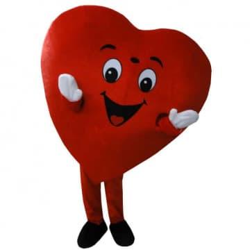 Giant Red Heart Mascot Costume